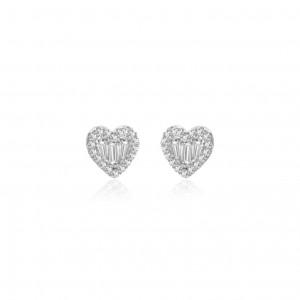 Meira T Diamond Heart Studs