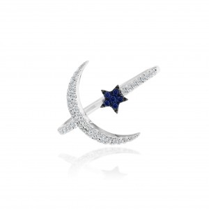 Meira T Moon and Star Ring