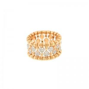 Hulchi Belluni Yellow Gold & Diamond Bead Stretch Band