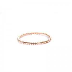 Hulchi Belluni Rose Gold Bead Stretch Bracelet