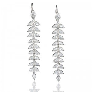 John Apel Diamond Drop Earrings