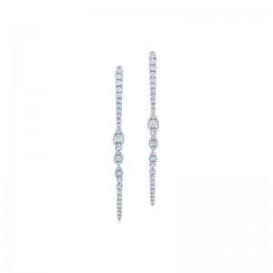 Kwiat Vine Diamond Three-Leaf Drop Earrings