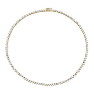 Norman Silverman Yellow Gold Triliant Diamond Necklace