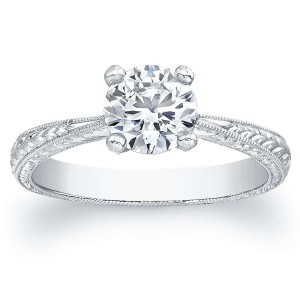 Norman Silverman Round Brilliant Solitaire Engagement Ring