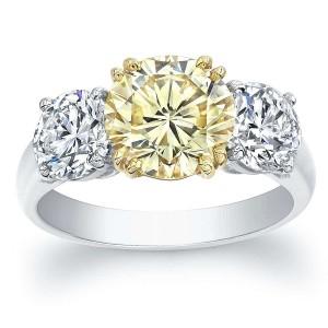 Norman Silverman Three Stone Diamond Engagement Ring