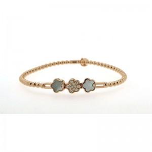 Hulchi Belluni Diamond Pave Flower Stretch Bracelet