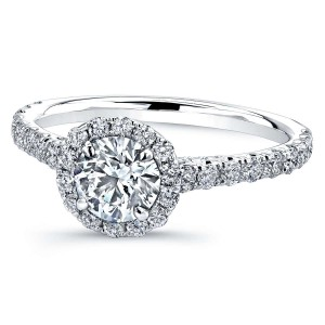 Norman Silverman Round Brilliant Diamond Ring