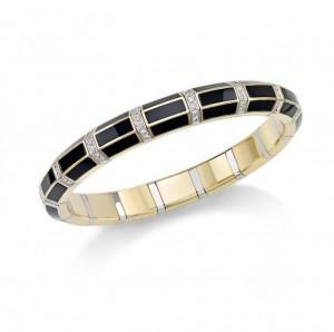 Picchiotti Xpandable Onyx Diamond Bracelet