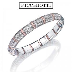 Picchiotti Xpandable Rose Gold Diamond Bracelet