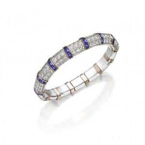 Picchiotti Xpandable Buff Top Sapphire Bracelet