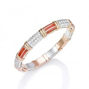 Picchiotti Xpandable Rose Gold Coral Bracelet