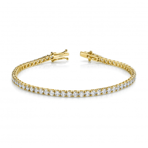 Norman Silverman Yelloe Gold Diamond Bracelet