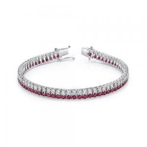 Norman Silverman Diamond And Ruby Bracelet