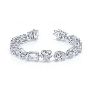 Norman Silverman Fancy Cut Diamond Bracelet