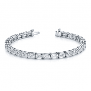 Norman Silverman Emerald Cut Diamond Bracelet