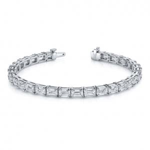 Norman Silverman Emerald Cut Diamond Bracelet