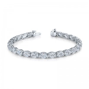 Norman Silverman Oval Cut Diamond East West Bracelet