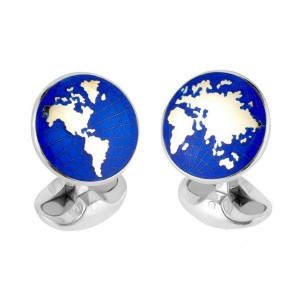 Deakin & Francis Enamel World Cufflinks