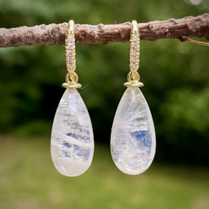 Lauren K Joyce Rainbow Moonstone Briolette Earrings