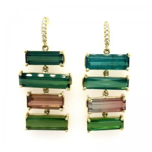 Lauren K Joyce Tourmaline 4 Stone Earrings