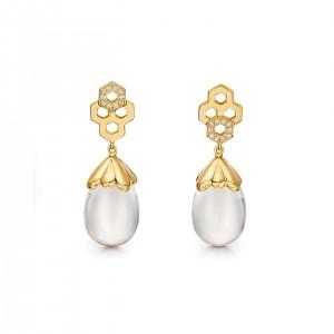 Temple St. Clair 18K Beehive Amulet Drop Earrings