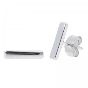 Deutsch Signature Thin Bar Stud Earrings