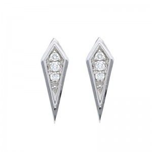Deutsch Signature Diamond Mini Kite Shape Stud Earrings