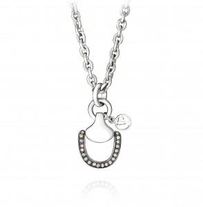 Vincent Peach Churchill Downs Necklace With Half Diamond