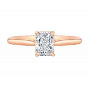 Norman Silverman Radiant Diamond Engagement Ring