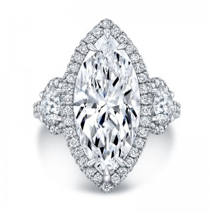 Norman Silverman Diamond Halo Engagement Ring