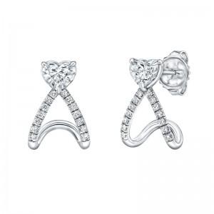 Norman Silverman Diamond Huggie Earrings