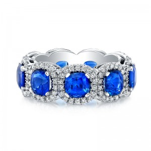 Norman Silverman Sapphire and Diamond Eternity Ring