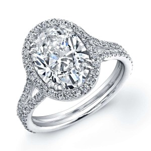 Norman Silverman Oval Diamond Engagement Ring