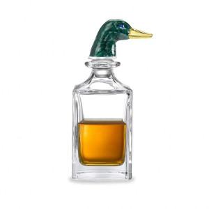 Deakin & Francis Green Duck Head Crystal Decanter