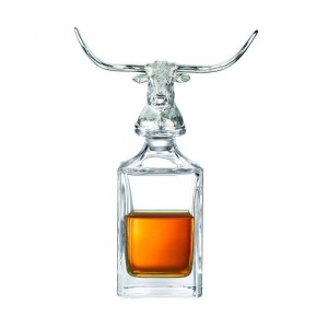 Deakin & Francis Longhorn Bull Crystal Decanter