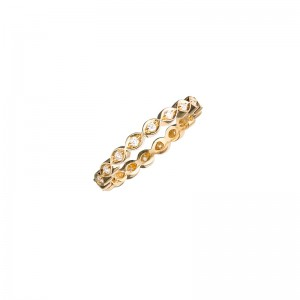 John Apel Round Diamond Infinity Pattern Eternity Ring