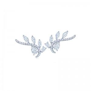 Kwiat Climber Vine Diamond Earrings