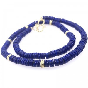 Lauren K Blue Lapis Beaded Necklace