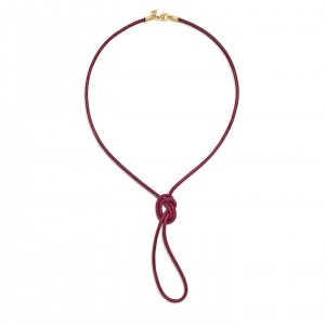 Temple St. Clair 18K Crimson Leather Cord