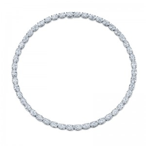 Norman Silverman Oval Diamond Necklace