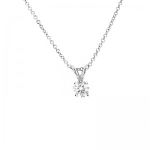 Deutsch Signature 4 Prong Diamond Pendant