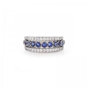 Kwiat Splendor Diamond and Sapphire Ring