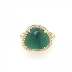 Lauren K Mischa Free Form Emerald Ring