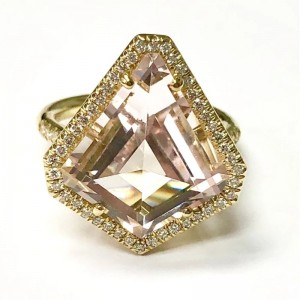 Lauren K Mischa Kite Shaped Morganite Ring