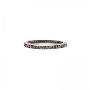 New World Champagne Diamond Eternity Stack Band Ring