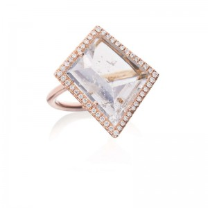 Lauren K Morganite And Diamond Halo Ring