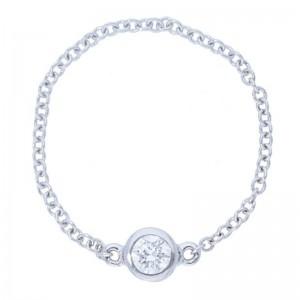 Deutsch Signature Diamond Bezel Chain Ring