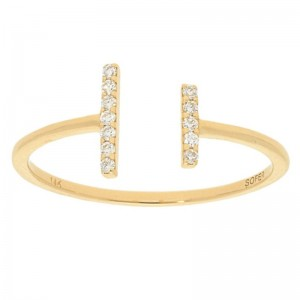 Deutsch Signature Thin Open Bar Diamond Ring