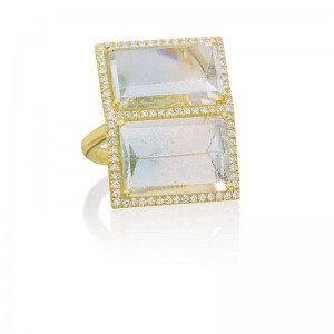 Lauren K Mirror Cut Aquamarine Ring