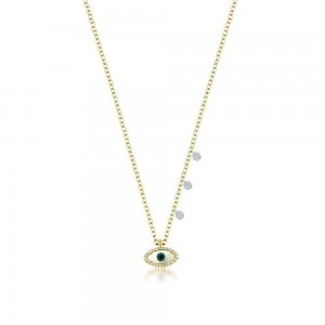 Meira T Evil Eye Dainty Necklace